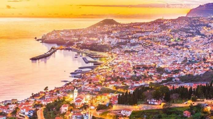 Panoramic view of Funchal, Island of Madeira