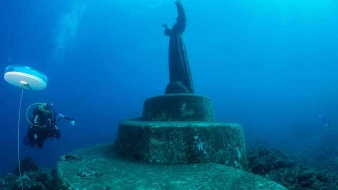 Christ of the Abyss in Portofino