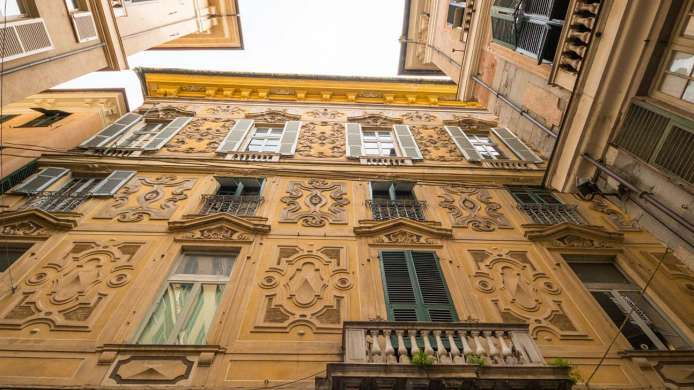 Facade of one of the Rolli Palaces in Genoa