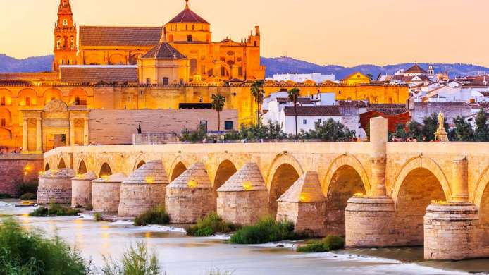 Roman bridge and mosque-cathedral of Cordoba