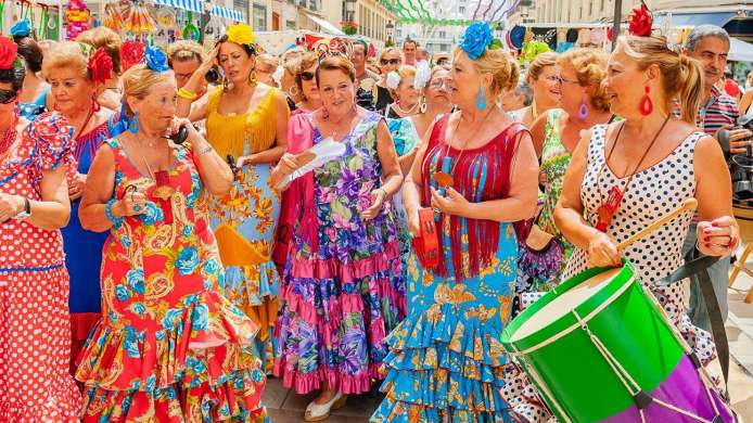 Traditionally, Malaga Fair takes place in August